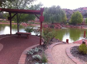 Meditation Pond at Mago Garden