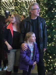 Kiara, Micaela, and Rick at Lord and Taylor storefront